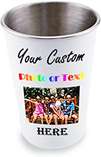 personalised pint glass with picture