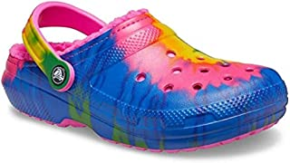 Crocs Unisex's Classic Tie Dye Lined Clog | Fuzzy Slippers