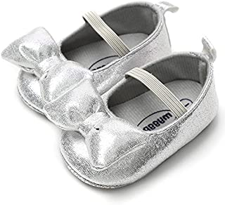 LIVEBOX Newborn Baby Girl Shoes,Soft Mary Jane Princess Party Dress Crib Shoes