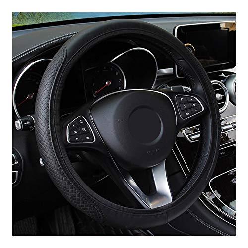 Meet's shop Cubierta de Volante Volante de Piel Cubierta de la Rueda de Coche-Styling for Nissan Qashqai Pulsar Marzo 370Z Micra Juke Nota Tiida Wingroad NV200 Mejor Agarre (Color : Black)