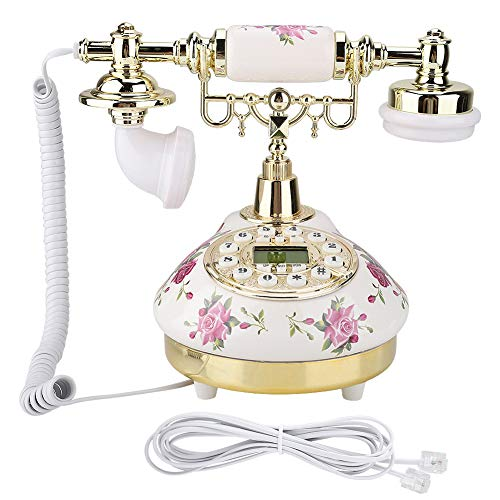 CHENQIAN MS-9101 Teléfono Antiguo de imitación Retro Vintage para Uso en la Oficina en casa Plata