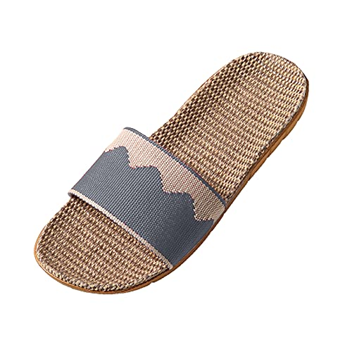 scarp donna casual decolte donna con tacco basso sandali con tacco basso sandali zeppa scarp plateau donna pantofole ortopediche donna (H37-Gray,42)