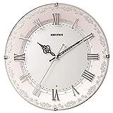 リズム時計工業(Rhythm) 掛け時計 ピンク Φ33x4.9cm 電波 アナログ 連続秒針 インテリア クリスタル 洋風 時計 8MY538SR13