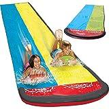 16FT Lawn Water Slides for Kids Backyard,Surf Rider Double Sliding Lane,Outdoor Garden Slip
