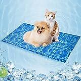 Kühlmatte für Hunde, strapazierfähige Kühlmatte für Haustiere, Selbstkühlende Kissen, Ungiftiges Gel, große kühle Hundedecke für Hunde Katzen im heißen Somme, Wasserwellenmuster XXL (120 * 70CM)