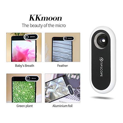 KKmoon Mikroskop 20x-400x Universal Tragbare Handy Mikroskop Lupe Vergrößerungslinse für Android und iOS perfekte Geschenk für neugierige Kinder und Erwachsene
