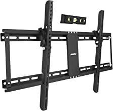 """UNHO 32-85"""" Fixed TV Wall Mount Bracket Tilt Ultra Slim TV Mount for LED LCD OLED Plasma TVs with Spirit Level Super Strong 132 lbs Weight Capacity VESA up to 800 x 400"""