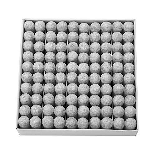 OKBY Billard Cue Tips - 100 Stück strapazierfähiger Kunststoff Billard Ersatz Pool Cue Tips Los Zubehör(13mm)