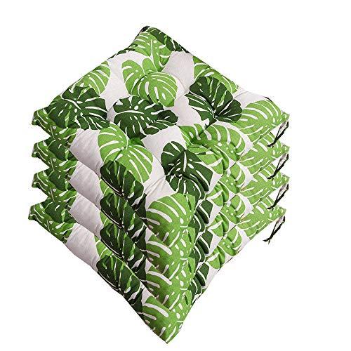 AGDLLYD Set di 4 Cuscini da Sedia per Dentro e Fuori, ca. 40x40x5cm,Disponibile in Tanti Colori Diversi,Cuscini per sedie da Giardino,Sedia Cucina,Serie Panama (K)