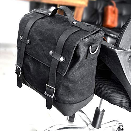 Bolsas para Tanque sillín de motocicleta, Maleta de viaje, Bolsa lateral multifunción para tanque, Bolsa de nailon con doble alforja para hombro, Organizador de almacenamiento, Paquete de casco