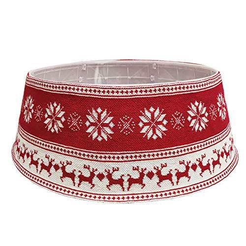HGUIAZ Falda árbol Navidad 30 Pulgadas Collar Base Copo Nieve Alce Alrededor Decoración Navidad,A
