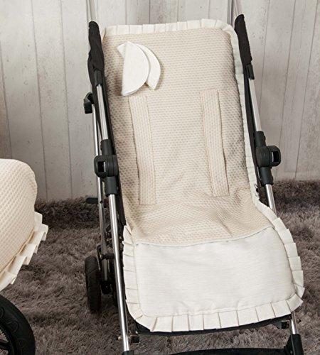 Babyline Destellos - Colchoneta ligera para silla de paseo, color beige