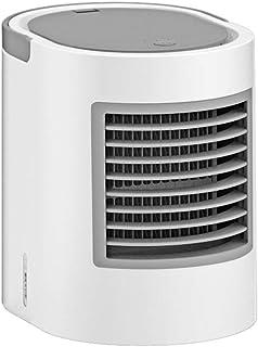 HANSHAN Aire Acondicionado portátil Personal del acondicionador de Aire del Ventilador silencioso Mini refrigerador de Aire con luz LED, 380 ml del Tanque de Agua, 3 velocidades, el acondicionador de