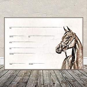 Boxenschild Stallschild Stalltafel Namensschild Pferd 'Araber' 20x30cm