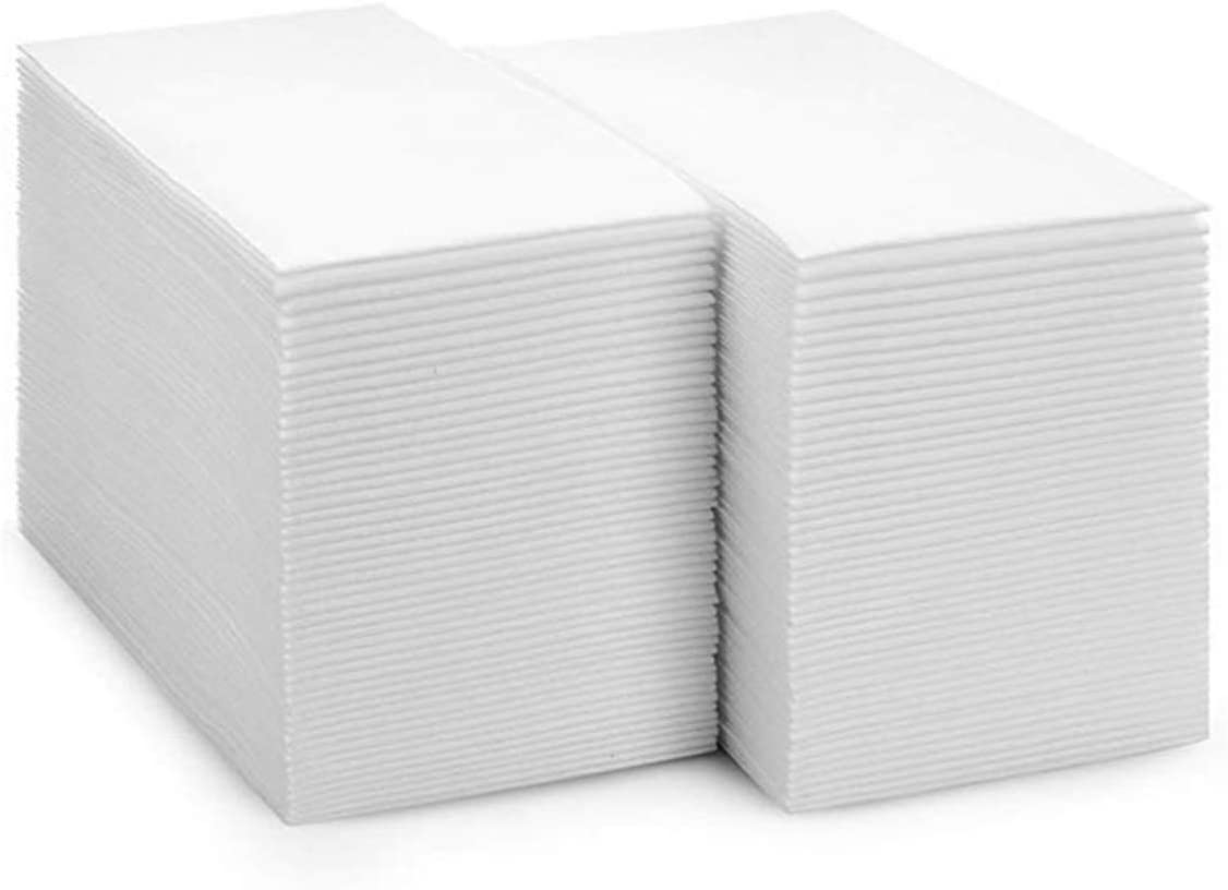 Dinners or Events Pack of 100 Weddings UKEENOR Disposable Hand Towels Decorative Bathroom Paper Napkins,Linen-Feel Guest Towels for Kitchen,Parties Anniversary