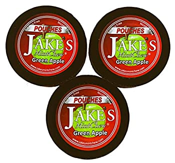 Jake s Mint Chew - Green Apple Pouches- 3 Pack - Tobacco & Nicotine Free!