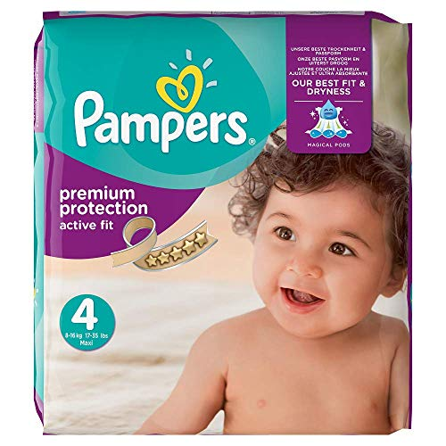 Pampers - Pañal active fit maxi 8 - 16kg (168 unidades)