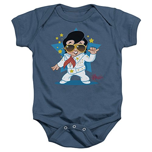 Elvis - - Jumpsuit Baby-T-Shirt in Blau Carolina, 6-12 Months, Carolina Blue