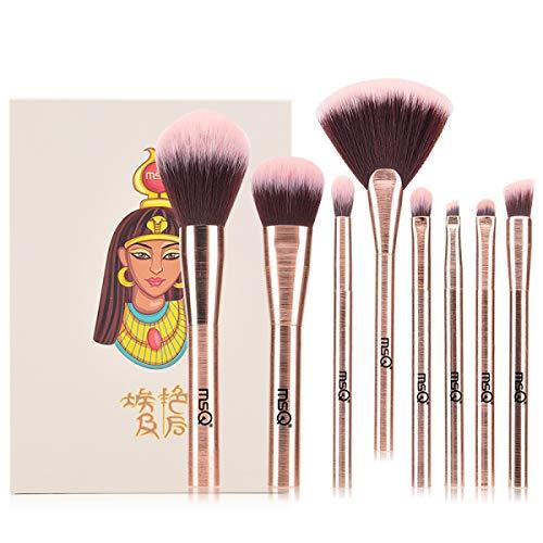 SANMEN Lot de 8 pinceaux de maquillage pour débutant
