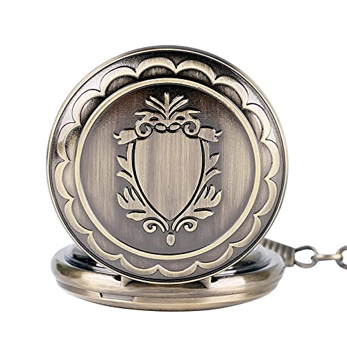 WHSW Reloj de Bolsillo Clásico Reloj Colgante Vintage, Bronce Hueco Reloj mecánico de Cuerda Reloj de Bolsillo Elegante Vintage Mujer Regalos para Hombre