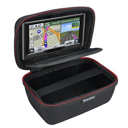 HESPLUS Hard Carrying Case Compatible with 4.3-5 for Garmin Nuvi 2597LMT 55LM 57LM 2557LMT 2555LMT 2595LMT 55LMT 52LM 2598LMTHD 3597LMTHD 42LM 56LMT Tomtom Mio GPS Navigation Shockproof Travel Bag