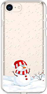 Case for iPhone 6S Christmas, Slim Protective Silicone Clear TPU Case for 4.7