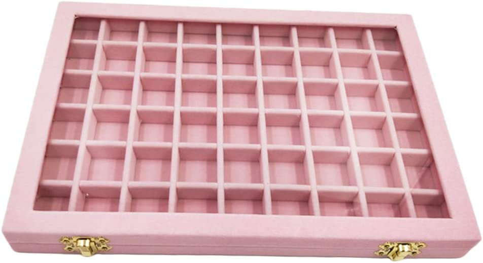 Colaxi Velvet Stackable Jewelry Organizer Clear Over item handling ☆ Tray Super sale Glass with