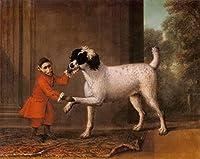 15 世界の名画 - ¥4K-150k 手書き-キャンバスの油絵 - アカデミックな画家直筆 - John Wootton A Favorite Poodle And 猿 Belonging To Thomas Osborn - 絵画 洋画 複製画 -サイズ04