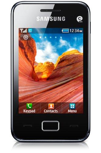 Samsung Star 3 S5220 Smartphone (7,6 cm (3 Zoll) Display, Touchscreen, 3,2 Megapixel Kamera) modern-black