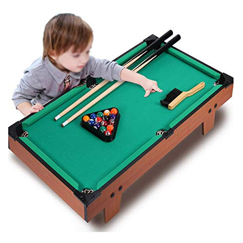 Mini Pool Tables Tafelblad Biljart Game Set Kinderen Wood Fun Pool Tafel Met 2 Cues/Balls/Rack En Krijt Voor Kids Family Games