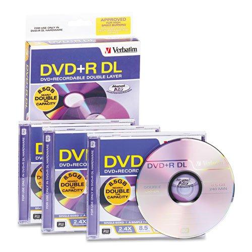 3pk Dvd+r Dl 2.4x 8.5gb Jewel Cases