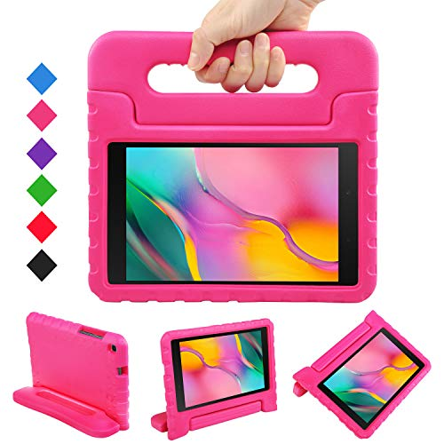 LEADSTAR Case for Samsung Galaxy Tab A 8.0 2019, Shockproof Light Weight Protection Handle Stand Kids Case fit Galaxy Tab A 8.0 inch SM-T290/ SM-T295 2019 Tablet, for Children (Rose)