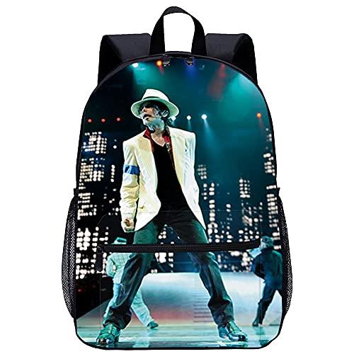 Manggu Mochila 3D Guardería Mochila -Michael Jackson-Adecuado para: estudiantes de primaria y secundaria, la mejor opción para viajes al aire libre-Tamaño: 45x30x15 cm / 17 pulgadas-mochila de viaje