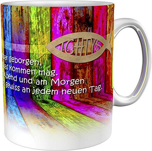 metALUm Kaffeetasse Buntes Holz Christlich # 3300100161
