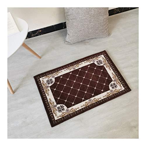 Qinqin666 Maschinenwaschbar Eingangstür Matte Küche Fußmatte, Eingangsmatte (Color : Brown, Size : 45x70cm)