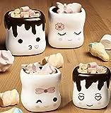 Marshmallow Mugs Set of 4 Cute Mugs Ceramic Cup Coffee Cup Kids Cocoa Hot Chocolate Milk Funny Mug Gift Anniversary Christmas Wedding Valentine's Day Gift