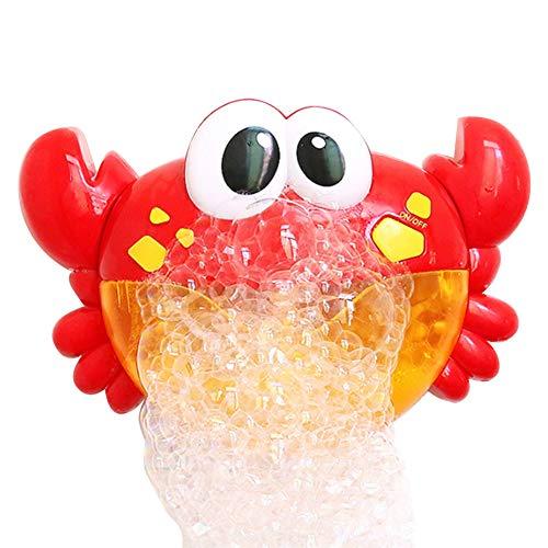 Hztyyier Juguete para el baño del bebé, máquina automática para Hacer Burbujas con Forma de Cangrejo de Dibujos Animados 12 Canciones para bebés para bebés Baby Showers Regalo de cumpleaños