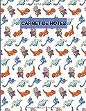 Carnet de Notes: Format 8,5 x 11 pouces, 110 pages, cahier ligné, peut servir comme carnet de notes, journal, notebook, bloc notes - Couverture souple ... bleu vert marron - à remplir, idée cadeau