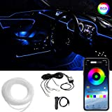 CoCsmart RGB Car Interior Lights Multicolor, 16 Million Colors 5 in 1 with 236 inches Fiber Optic, Car LED Strip Light Ambient Lighting Kits, Sound Active Function and Wireless Bluetooth APP Control