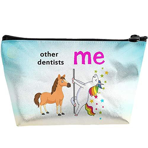 Others Dentists Me Einhorn lustige Geschenke für Zahnarzt Aufbewahrungstasche mit Reißverschluss für Brillen Kosmetik tragbar