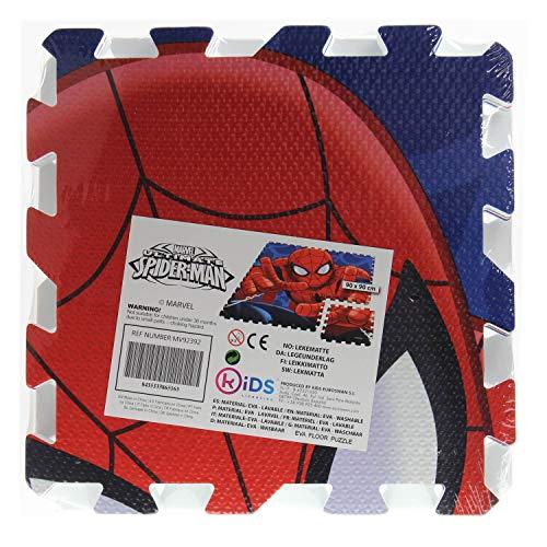 Kids Licensing–un Alfombra Espuma Spiderman AU Formato Puzzle, mv92392