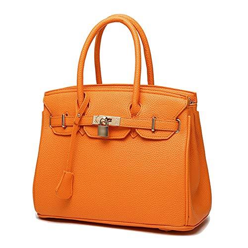 YSAN Sac à Bandoulière Sac à Bandoulière Messenger Bag Litchi,Orange-OneSize