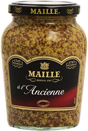 3 Gläser Maille Dijon-Senf Alte Art, à l'ancienne, mit ganzen Senfkörnernzu je380g