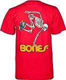 Powell Peralta Skateboard Skelett T-Shirt L rot