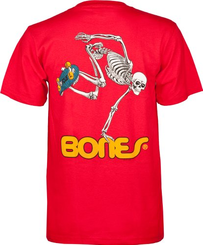 Powell Peralta Skateboard Skelett T-Shirt XL rot