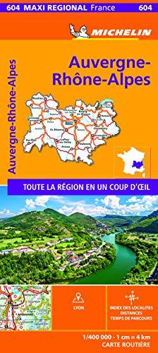 Carte Maxi Régional Auvergne Rhône-Alpes Michelin