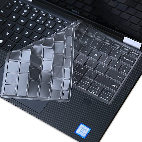Ultra Thin Clear Keyboard Skin for Dell XPS 13 9380 9370 9365 & DELL XPS 13 7390 Standard(Not for 2-in-1 7390), TPU