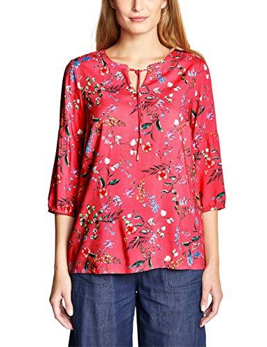 Cecil Damen 341391 Bluse, neo Coralline red, Large (Herstellergröße:L)