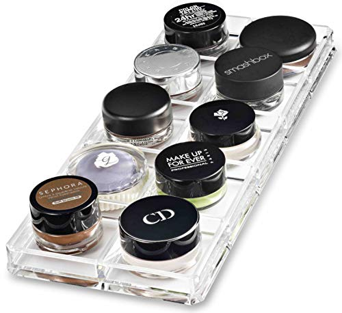 byAlegory Pots de peinture acrylique/Crème Ombre Organisateur de maquillage | 10 Space Tray Cosmetic Beauty Care Storage