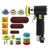 Hotwin Air Sander Poliermaschine, Mini Dual Action Air Exzenterschleifer Sets mit 2,5 cm 5 cm 7 cm...